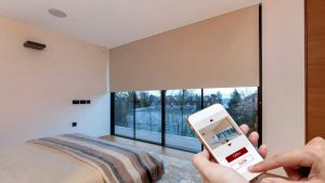 summer entertaining - image shows smart home remote control