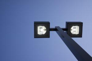 nashville lighting - image shows overhead outdoor site lighting