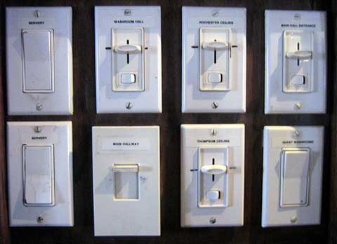An Industrial Electrician you can Trust - Different types of light switches on a wall