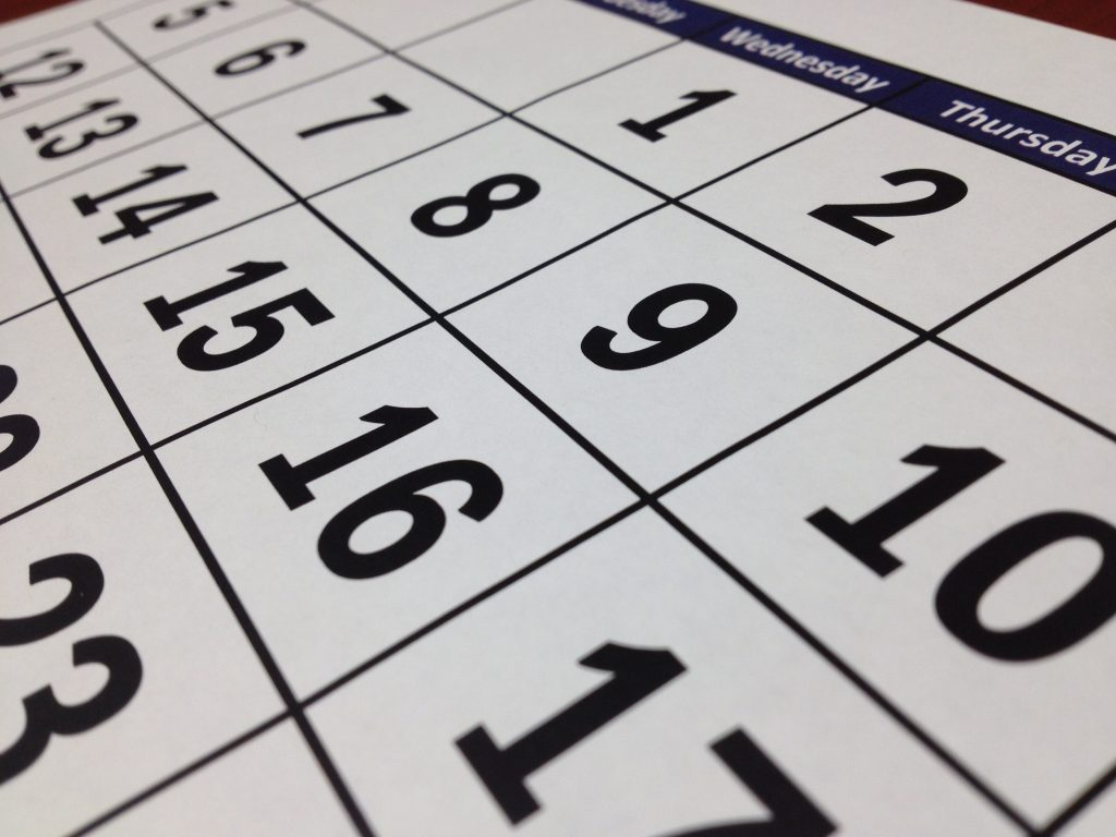 preventative maintenance plans - image shows a calendar