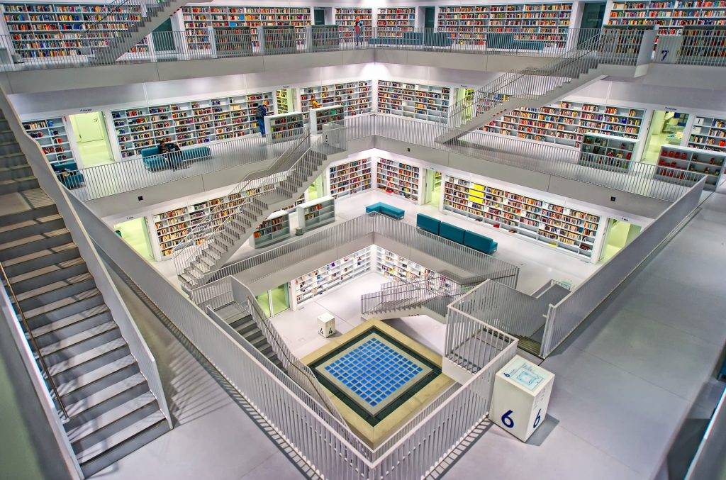 modern library with proper maintenance